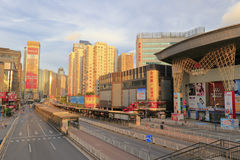Tianhe road at sunrise Stock Image