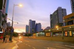 Tianhelu街道在黎明 免版税库存图片
