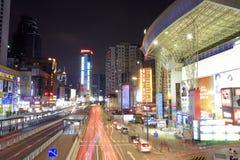 Tianhelu街道夜视图 免版税库存图片