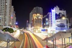 Tianhelu街道夜视域 免版税库存照片