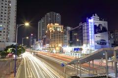 tianhelu街道夜风景广州 免版税库存图片