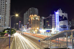 The tianhelu street night scenic of guangzhou Royalty Free Stock Image