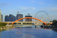 Tianjin City Landscape-Tianjin Eye Ferris wheel Stock Photos