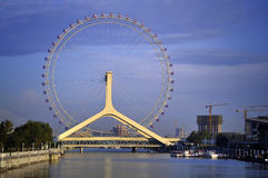 Tianjin City Landscape-Tianjin Eye Ferris wheel Stock Image