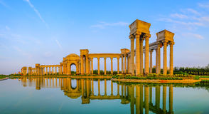 Tianjin city scenery of the city, China. Niversity Park was built in July 2002, covers an area of 130625 square meters, of which green area of 72000 square Royalty Free Stock Photography