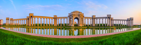 Tianjin city scenery of the city, China. Niversity Park was built in July 2002, covers an area of 130625 square meters, of which green area of 72000 square Stock Image