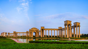 Tianjin city scenery of the city, China. Niversity Park was built in July 2002, covers an area of 130625 square meters, of which green area of 72000 square Royalty Free Stock Images