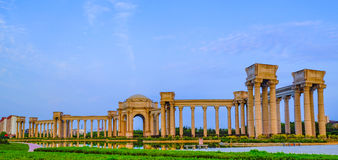 Tianjin city scenery of the city, China. Niversity Park was built in July 2002, covers an area of 130625 square meters, of which green area of 72000 square Royalty Free Stock Photos