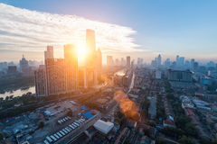 Tianjin cityscape in  the morning Royalty Free Stock Photography