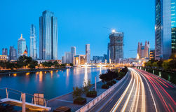 Tianjin cityscape at night Royalty Free Stock Image