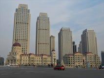Tianjin de stad in stock fotografie
