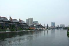 Tianjin el río Haihe Fotos de archivo libres de regalías