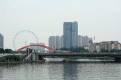 Tianjin el río Haihe Fotografía de archivo libre de regalías