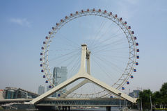 Tianjin eye. This is a China Tianjin ferris wheel photo Royalty Free Stock Photos