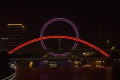 Tianjin Eye and bridge Royalty Free Stock Photos