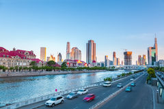 Tianjin haihe river at dusk Stock Photography