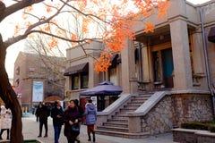 Tianjin Italian style,China. Visitors to the Italian style street Royalty Free Stock Photography