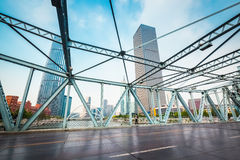 Tianjin jiefang bridge closeup Royalty Free Stock Photography