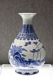 Tianjin Museum Jiaqing blue and white models the Takeishi banana pattern vase Stock Photography