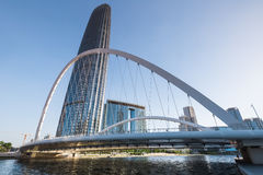 Tianjin office building and bridge Royalty Free Stock Photography