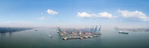 Tianjin port panorama. Aerial view of tianjin port panorama, China Royalty Free Stock Photography