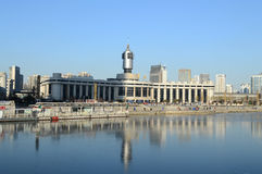 Tianjin Railway Station. Is on the  bank of  Hai-He River Tianjin China  it is one of the biggest station in the world photoed on December 14th 2013 Stock Image