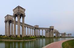 Tianjin stadslandskap av staden, Kina Arkivbild