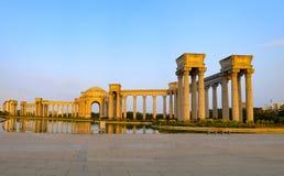 Tianjin stadslandskap av staden, Kina Arkivbilder