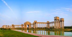 Tianjin stadslandskap av staden, Kina Arkivfoton