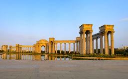 Tianjin-Stadtlandschaft der Stadt, China Stockbilder