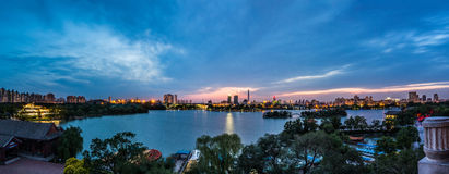 Tianjin Water Park. The Tianjin Water Park is the largest urban park and recreation area in Tianjin, China. The park was formally established in 1951, covering Royalty Free Stock Photos