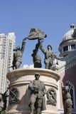 The sculptures of tianjin city Stock Photo