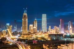 Tianjing bij nacht Royalty-vrije Stock Afbeelding