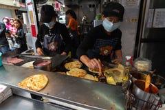Tianjing Chong Zhua Pancake em Taipei - restaurante em Taipei, Taiwan foto de stock