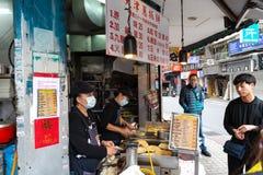 Tianjing Chong Zhua Pancake em Taipei - restaurante em Taipei, Taiwan imagens de stock