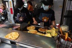 Tianjing Chong Zhua Pancake em Taipei - restaurante em Taipei, Taiwan fotos de stock royalty free