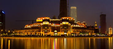 Tianjins Nacht - 1 Lizenzfreie Stockfotografie