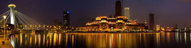 Tianjins Nacht - 2 Lizenzfreie Stockfotos