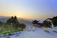 Tianma & x28;天空马山日出 免版税库存照片