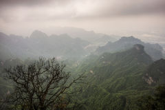 Tianmen mountain landscape and viewpoint royalty free stock images