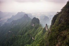 Tianmen mountain landscape and viewpoint royalty free stock image
