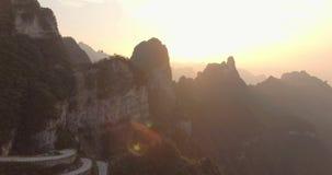 Tianmen Mountain National Park stock footage