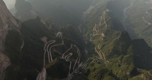 Tianmen Mountain National Park stock footage