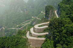 Tianmen Shan Big Gate Road at Tianmen  Mountain Stock Photography