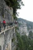 Tianmen Shan Cliff walk Royalty Free Stock Image