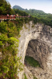 Tianmen Shan Cliff walk Stock Images
