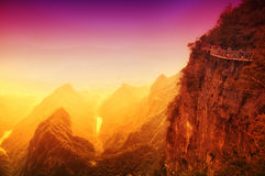 Tianmen Shan Cliff walk Royalty Free Stock Photography
