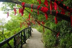 Tianmen shan Mount Tianmen pathway Royalty Free Stock Images