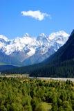 Tianshan山横向 库存图片