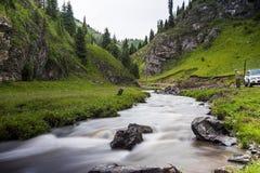 Tianshan Creek. Xinjiang, China, the valley of the creek Stock Photos